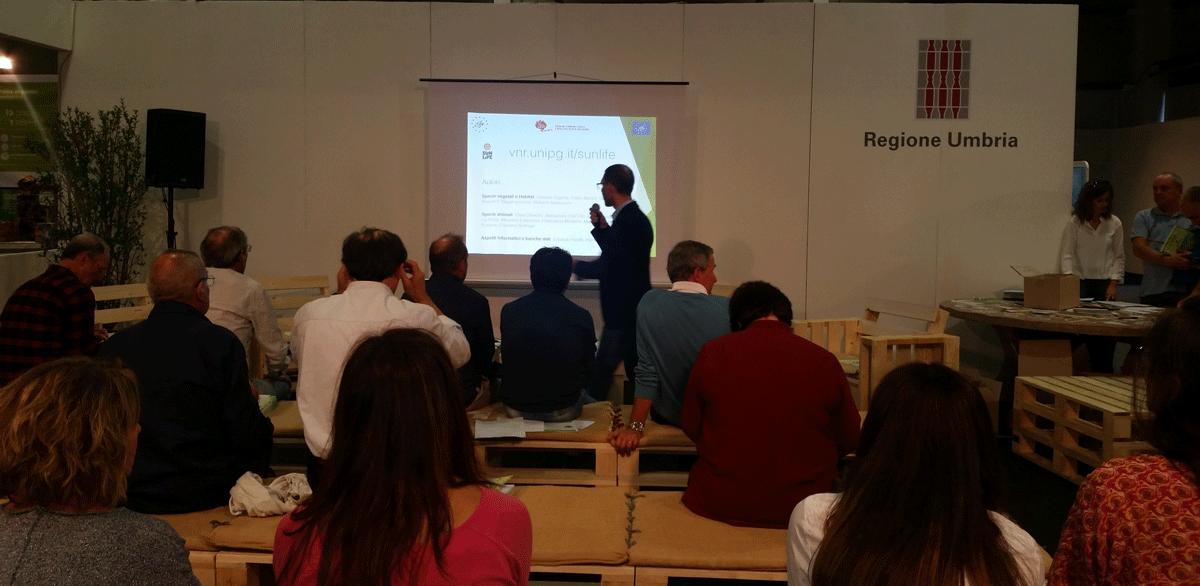 Immagine di Gianandrea La Porta durante l'evento alla presentazione del 6 ottobre 2017