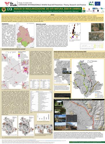Poster - Analisi di insularizzazione dei Siti Natura 2000 in Umbria - Università dell'Aquila (versione miniatura web)