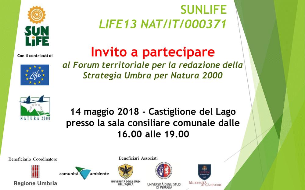14 maggio 2018 Forum Territoriale a Castiglione del Lago