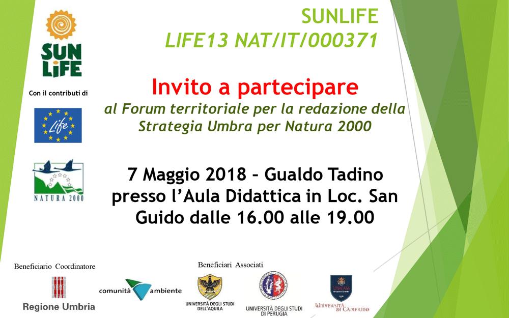 7 maggio 2018 Forum Territoriale a Gualdo Tadino